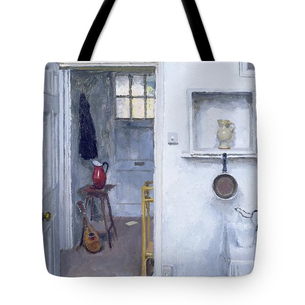 Interior With Red Jug Tote Bag by Charles E Hardaker