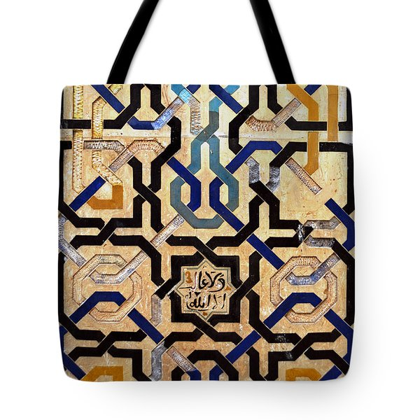 Interlocking Tiles In The Alhambra Tote Bag