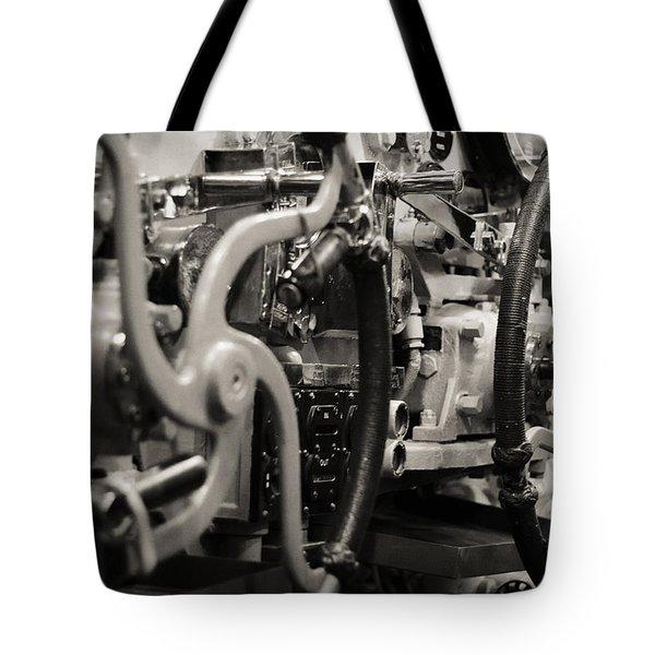 Internal Mechanics Uss Bowfin Tote Bag by Douglas Barnard