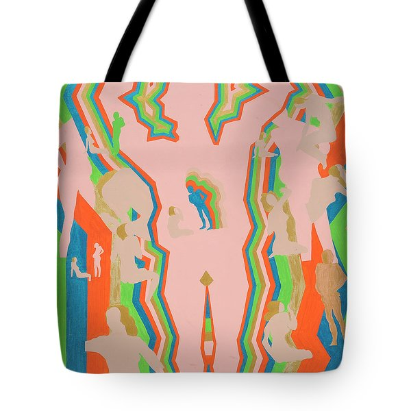 Tote Bag featuring the painting Intimidated by Erika Chamberlin