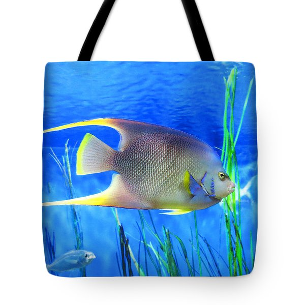 Into Blue - Tropical Fish By Sharon Cummings Tote Bag by Sharon Cummings