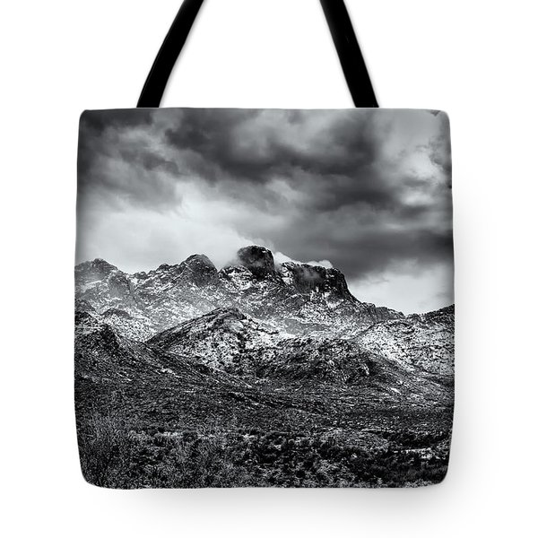 Tote Bag featuring the photograph Into Clouds by Mark Myhaver