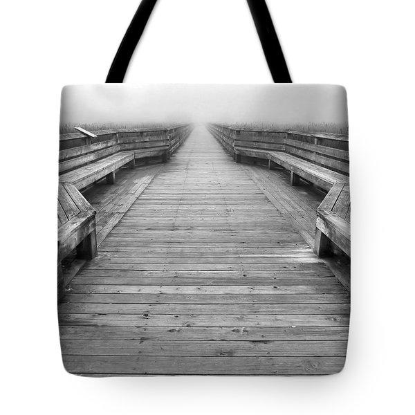 Into The Fog Tote Bag by Cheryl Hoyle