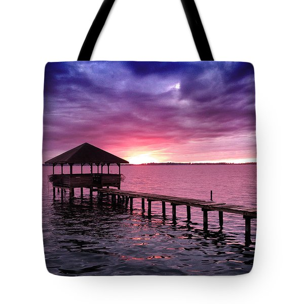 Into The Horizon Tote Bag by Rebecca Davis