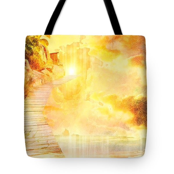 Into The Light Tote Bag by Liane Wright