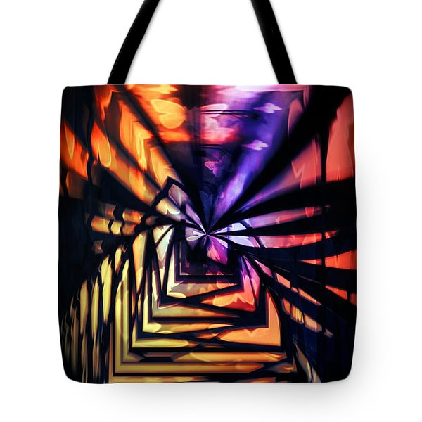 Into The Light Tote Bag by Marianna Mills