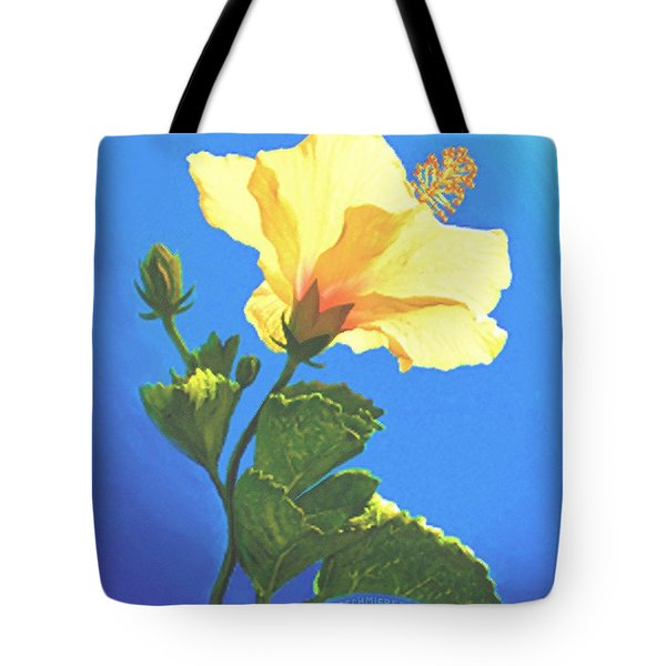 Tote Bag featuring the painting Into The Light by Sophia Schmierer