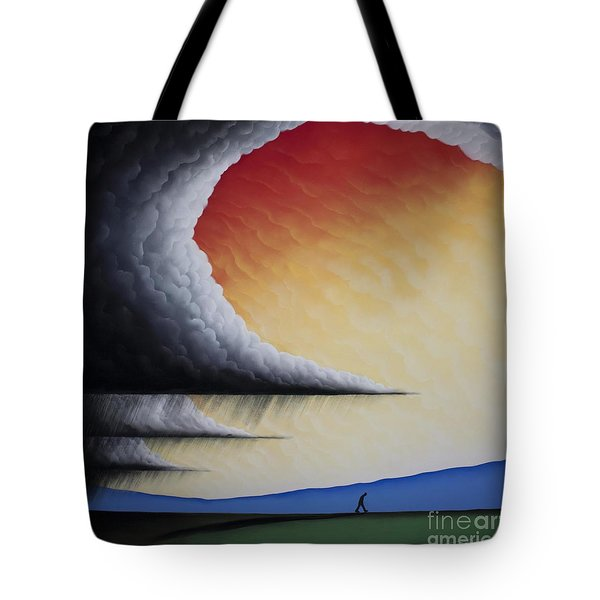 Into The Light V Tote Bag