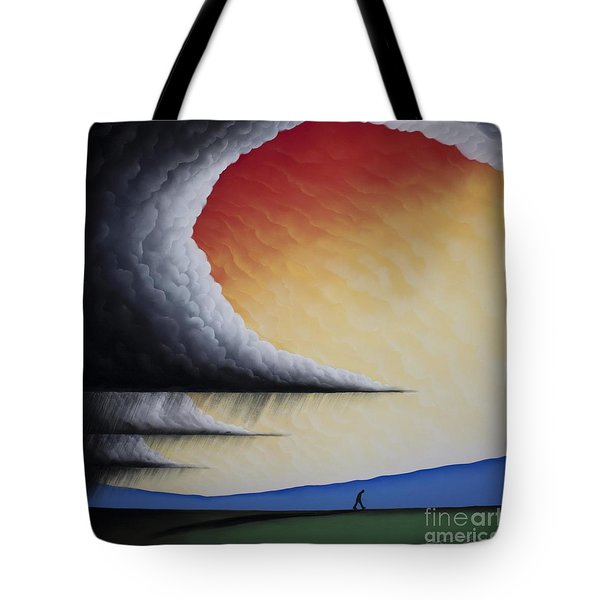Into The Light V Tote Bag