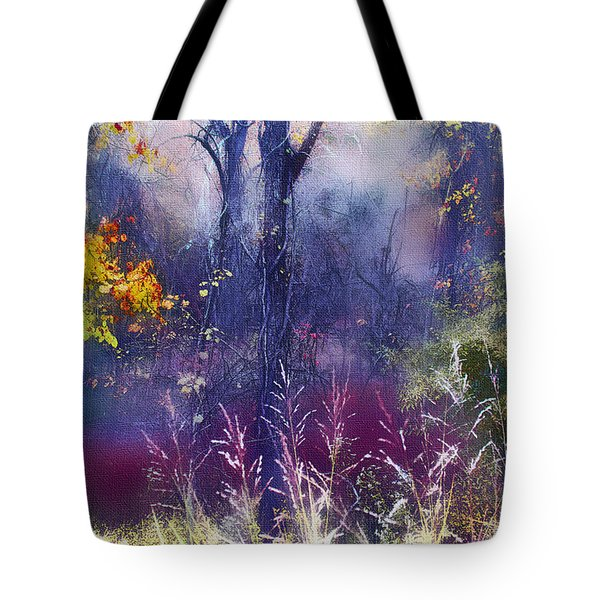 Tote Bag featuring the photograph Into The Mist - A Dream State by Ellen Tully