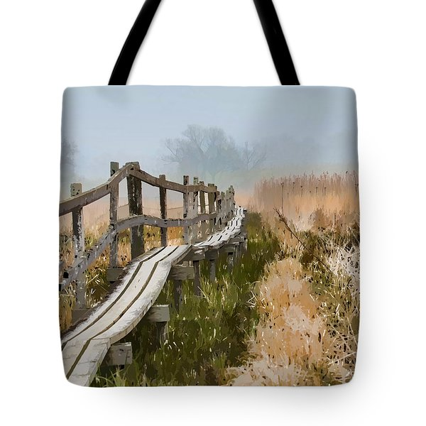 Tote Bag featuring the photograph Into The Mist 00 by Leif Sohlman