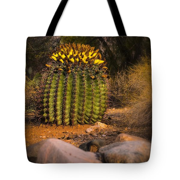 Tote Bag featuring the photograph Into The Prickly Barrel by Mark Myhaver