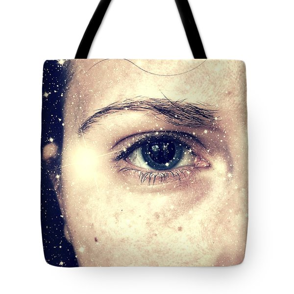 Into The Starry Darkness Tote Bag
