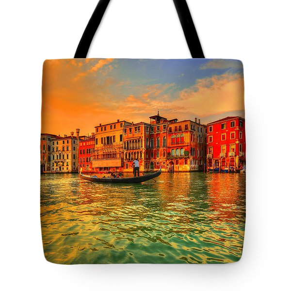 Into The Sunset Tote Bag by Midori Chan