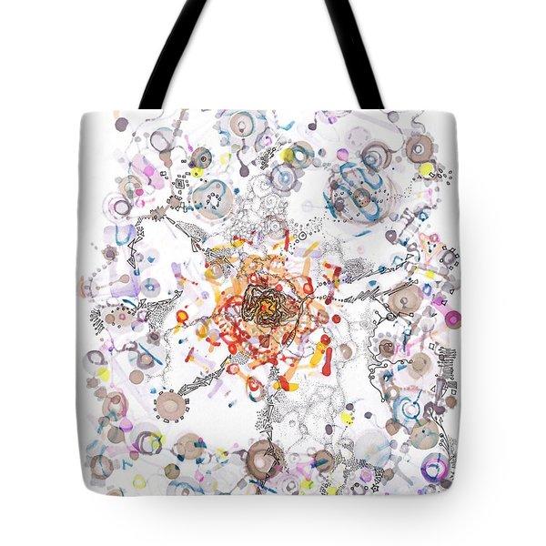 Intracellular Diversion Tote Bag by Regina Valluzzi