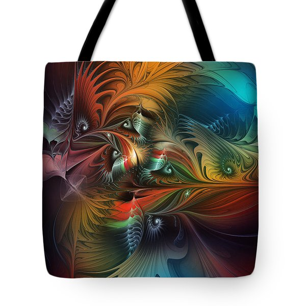 Intricate Life Paths-abstract Art Tote Bag