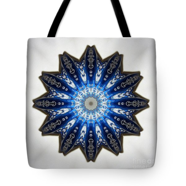 Intricate Shades Of Blue Tote Bag by Renee Trenholm