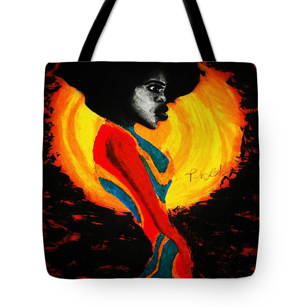 Tote Bag featuring the painting Introspection by Tarra Louis-Charles