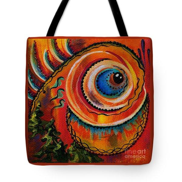 Intuitive Spirit Eye Tote Bag by Deborha Kerr