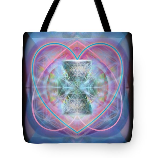 Intwined Hearts Chalice Wings Of Vortexes Radiant Deep Synthesis Tote Bag