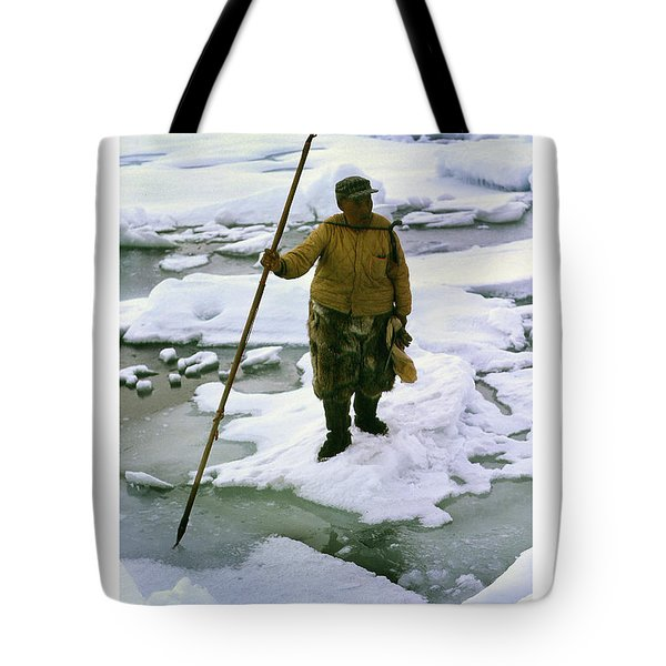 Tote Bag featuring the photograph Inuit Seal Hunter Barrow Alaska July 1969 by California Views Mr Pat Hathaway Archives