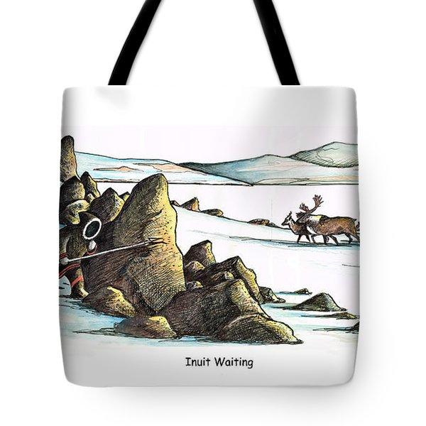 Inuit Waiting Tote Bag