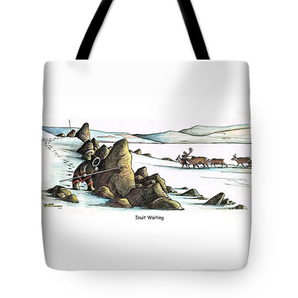 Inuit Waiting Tote Bag