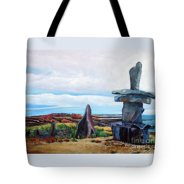 Inukshuk Tote Bag by Marilyn  McNish