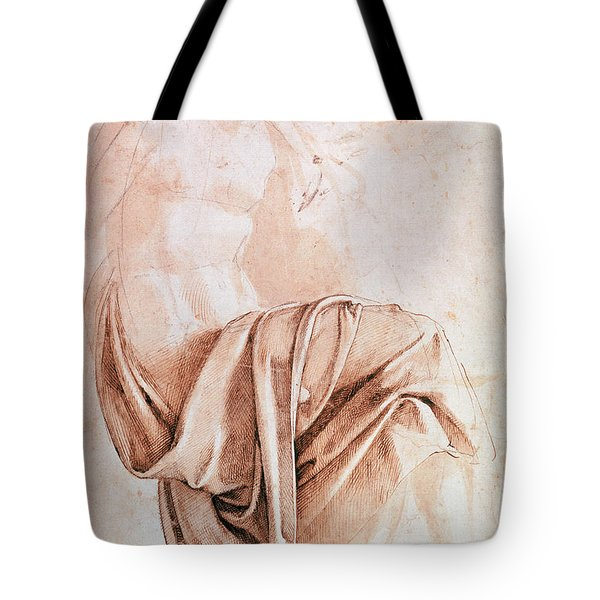 Inv. 1887-5-2-118 Recto W.10 Study Of Drapery Drawing Tote Bag
