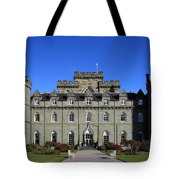Tote Bag featuring the photograph Inveraray Castle by Maria Gaellman