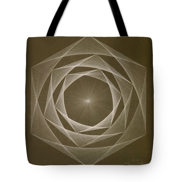Inverted Energy Spiral Tote Bag by Jason Padgett