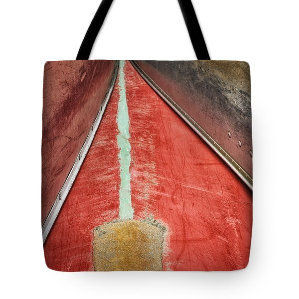 Tote Bag featuring the photograph Inverted-stacked Canoes by Gary Slawsky