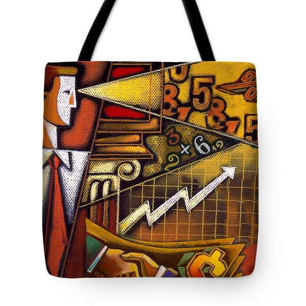 Investor Tote Bag by Leon Zernitsky
