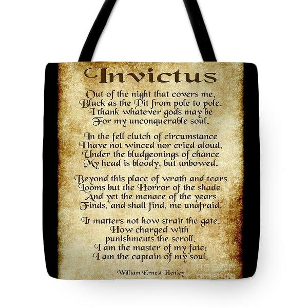 Invictus - Old Parchment Design Tote Bag
