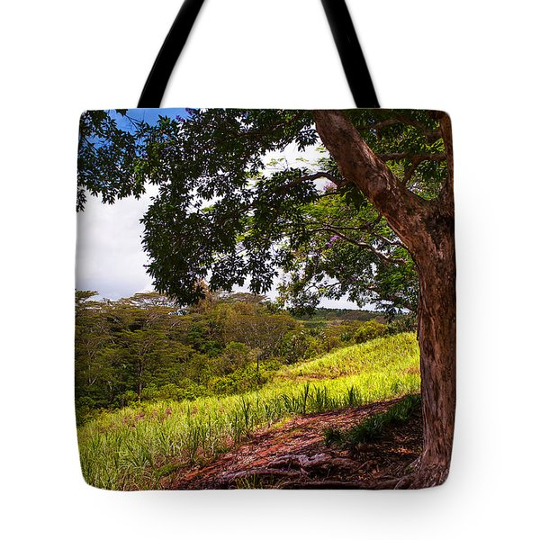 Invitation To Shadow Place. Chamarel. Mauritius Tote Bag by Jenny Rainbow