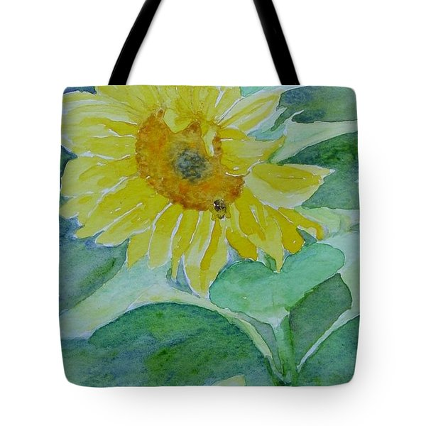 Inviting Sunflower Small Sunflower Art Tote Bag