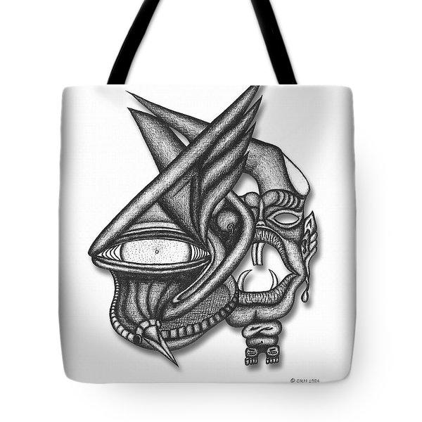Ion Tiki Tote Bag