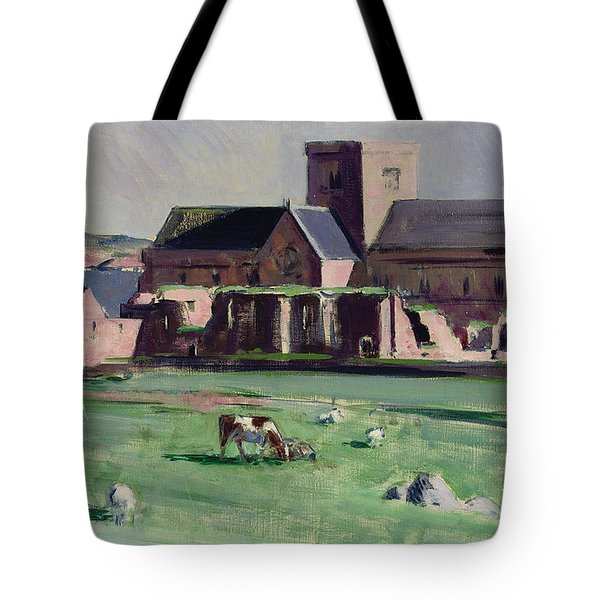 Iona Abbey From The Northwest Tote Bag