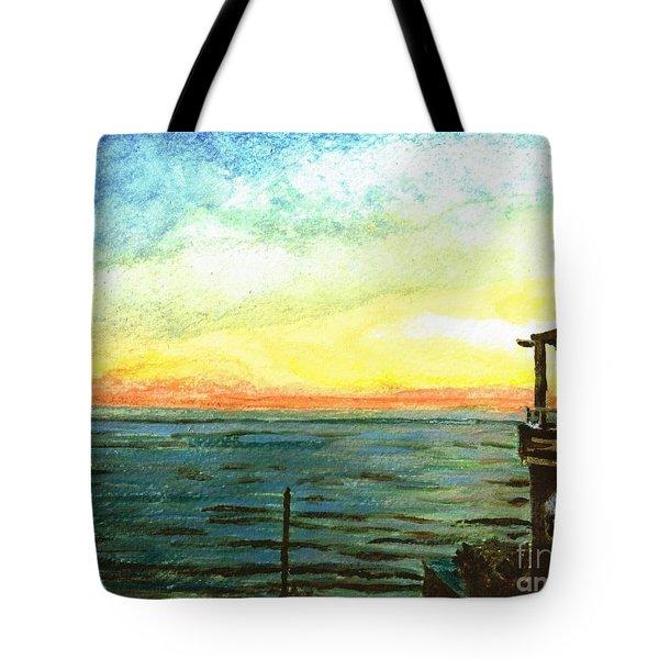 Tote Bag featuring the painting Ionian Sea Zanti Greek Island by Teresa White