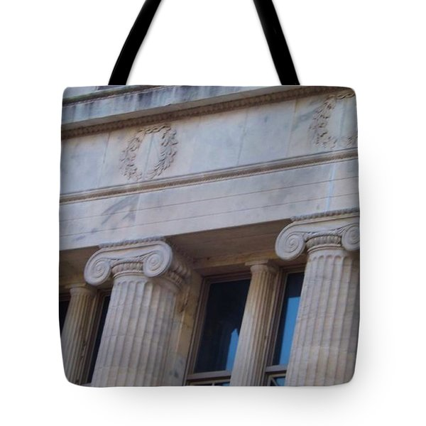 Tote Bag featuring the photograph Ionic Columns by Brigitte Emme