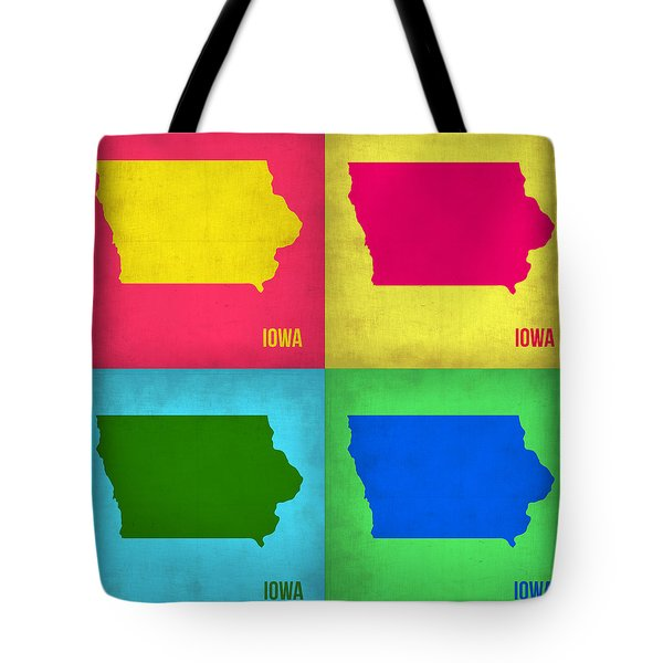 Iowa Pop Art Map 1 Tote Bag