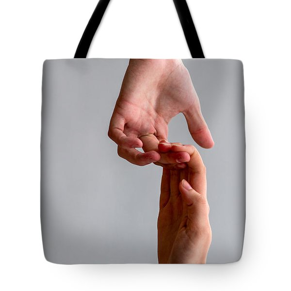 iPhone Case - He And She Tote Bag by Alexander Senin