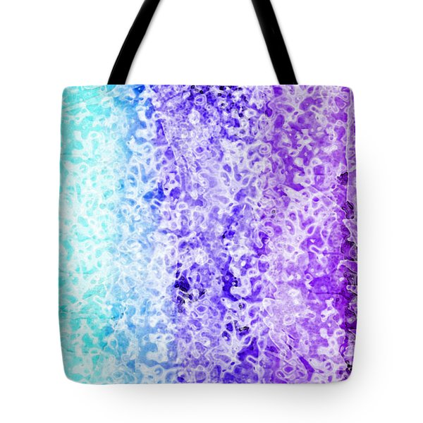 Iphone Purple And Blue Abstract Tote Bag by Debbie Portwood