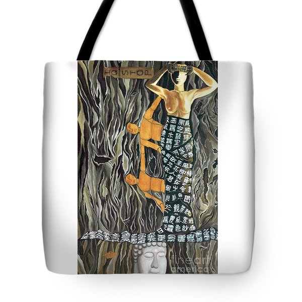 Tote Bag featuring the painting I Q Stoped by Fei A