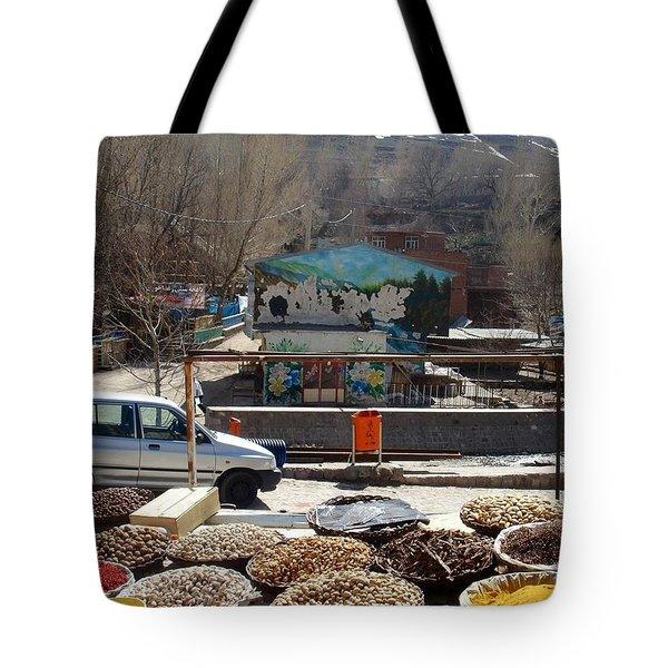 Iran Kandovan Spices Tote Bag by Lois Ivancin Tavaf