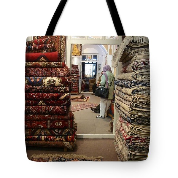 Iran Persian Carpets Tote Bag by Lois Ivancin Tavaf