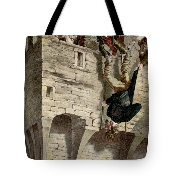 Tote Bag featuring the painting Ireland The Blarney Stone by Granger