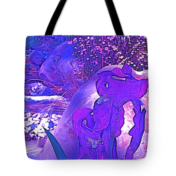 Tote Bag featuring the photograph Iris 2 by Pamela Cooper