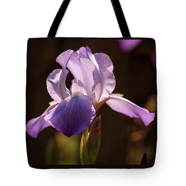 Iris Aglow Tote Bag by Rona Black