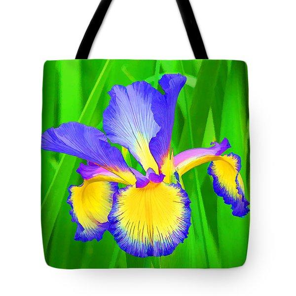 Iris Blossom Tote Bag